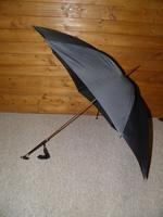 Victorian Hallmarked 1897 Silver Derby Handled Black Canopy Umbrella (9 of 14)