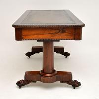 Antique William IV Rosewood Desk / Writing Table (6 of 15)