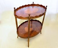 George III Two Tier Inlaid Mahogany Table (4 of 11)