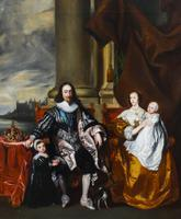 King Charles I & Henrietta After Anthony Van Dyck Royal Family Oil Portrait (2 of 6)