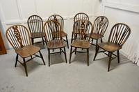 Collection of 8 Beech & Elm Country Windsor Chairs (9 of 12)