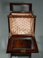 A Extremely Pretty 19th Century Rosewood and Marquetry Ladies Work Table (5 of 6)