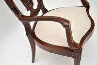 Antique Edwardian Inlaid Mahogany Armchair (6 of 11)