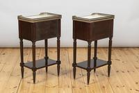 Pair of French Three Drawer Mahogany Bedside Cabinets (6 of 10)