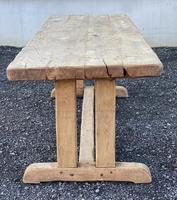 Large French Rustic Bleached Oak Farmhouse Dining Table (18 of 36)