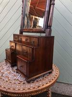 Antique Queen Anne Style Walnut Dressing Table Mirror (3 of 9)