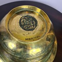 Large & Heavy Chinese Brass Bowl (2 of 6)