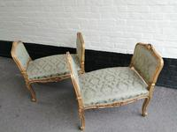 Superb quality pair of 19th century French giltwood window seats (6 of 8)