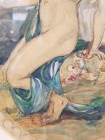 Exclusive Russian Symbolism Painting from Private Collection. #2 Leda with a Swan (4 of 6)