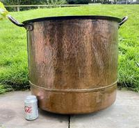 Large Sturdy Solid Copper Bin c.1900 (7 of 11)