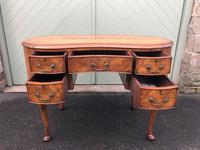 Antique Walnut & Burr Walnut Kidney Shaped Desk (3 of 13)