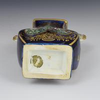 Chelsea Porcelain Gold Anchor Period Blue Ground Vase c.1765 (10 of 14)