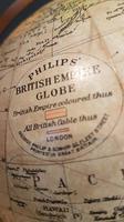 "Antique 8"" Paper Mache Phillip's Terrestrial Globe (5 of 7)"