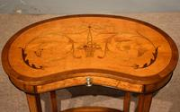 Satinwood Kidney Table Floral Marquetry (2 of 6)