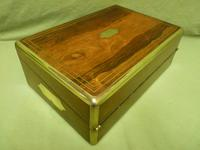 Quality Fully Brass Bound Rosewood Writing Box. Many Features. C1875 (11 of 16)