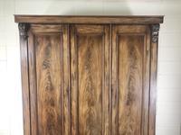 Large Victorian Mahogany Triple Compactum Wardrobe (2 of 11)