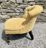 Small Antique Victorian Upholstered Salon Chair (6 of 17)