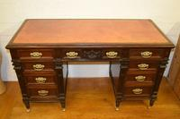 Superb Quality Victorian Mahogany Desk by Jas Shoolbred & co