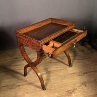 Stunning French Charles X Walnut Library Writing Table (9 of 16)