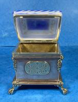 Arts & Crafts Glass and Brass Single Tea Caddy. (2 of 18)