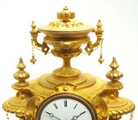 Wow! Incredible French Gilt Metal Mantel Clock Striking 8-Day Mantle Clock (4 of 10)