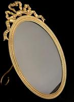 Victorian Gilt Brass Oval Easel Photo Frame