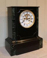 Mid 19th Century Polished Slate Visible Escapement Mantel Clock (15 of 16)