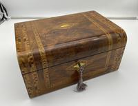 Victorian Inlaid Walnut & Tunbridge Ware Jewellery Box (11 of 14)