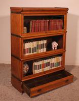 Globe Wernicke Oak Bookcase of Three Elements (11 of 12)