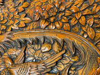 Chinese Camphor Wood Carved Birds & Flowers Chest Coffee Table (6 of 34)