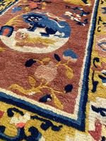 Antique Chinese Ningxia Rug 1.61m x 0.74m (5 of 9)