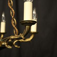 French Gilded  Empire 6 Light Chandelier (5 of 9)