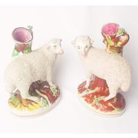 Pair of Staffordshire Flatback Sheep (2 of 6)
