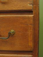 Antique Country Oak Chest of Drawers, 18th Century Chest in 2 Parts (11 of 17)