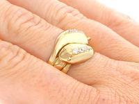 0.54ct Diamond & 18ct Yellow Gold Snake Dress Ring - George V 1931 (8 of 9)