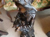 A Victorian Heavy Bronze Girl with Goose (6 of 10)
