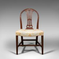 Pair of Antique Hepplewhite Revival Side Chairs, English, Seat, Victorian, 1890 (2 of 12)