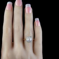 Antique Edwardian Old Cut Diamond Cluster Ring 18ct Gold 1.65ct Of Diamond Circa 1901 (2 of 6)