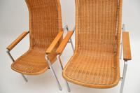Pair of Vintage Chrome & Rattan Armchairs by Dirk Van Sliedrecht (10 of 11)