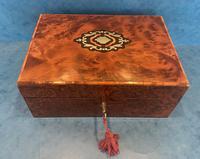19th Century  French Burr Cedar Jewellery Box