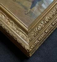 19thC English School - Horse & Hound Country landscape Oil Painting (2 of 11)