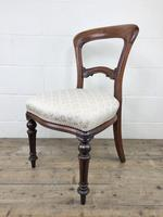 Single Victorian Mahogany Chair with Fabric Seat (8 of 10)