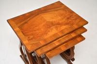 Antique Regency Style Figured Walnut Nest of Tables (7 of 12)