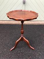 Antique Mahogany Tripod Wine Table Shaped Top