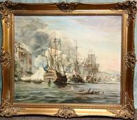 Battle of Trafalgar Marine Seascape Oil Painting