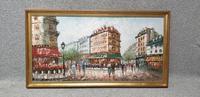 Large French Scene Oil Painting 'Burnett' (2 of 3)