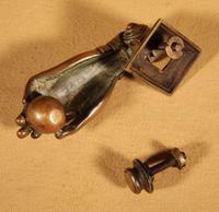 Interesting Bronze Door Knocker in the Shape of a Hand (6 of 8)