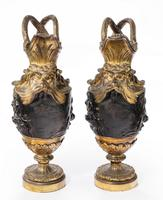 Pair of Late 18th Century Bronze and Gilt Bronze Ewers in the Manner of Clodion (2 of 7)