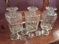 Antique Sheraton Inlaid Three Bottle Tantalus (7 of 12)