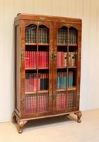 Walnut Chinoiserie Decorated Bookcase (5 of 10)